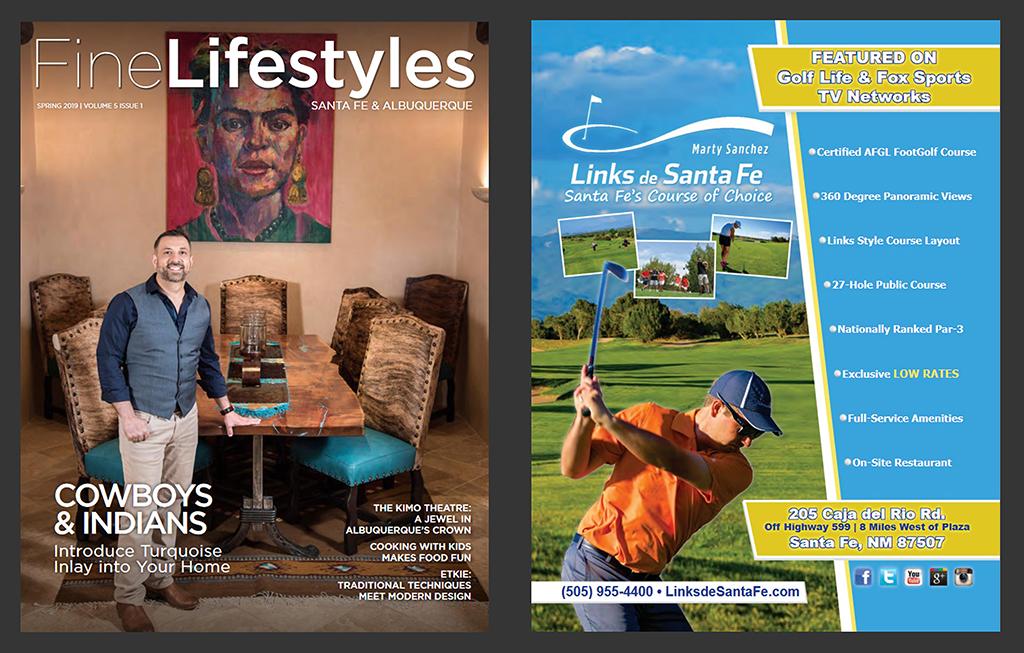 Print & Publishing Advertisements- Fine Lifestyles Magazine Advertisement - Marty Sanchez Links de Santa Fe Golf Course
