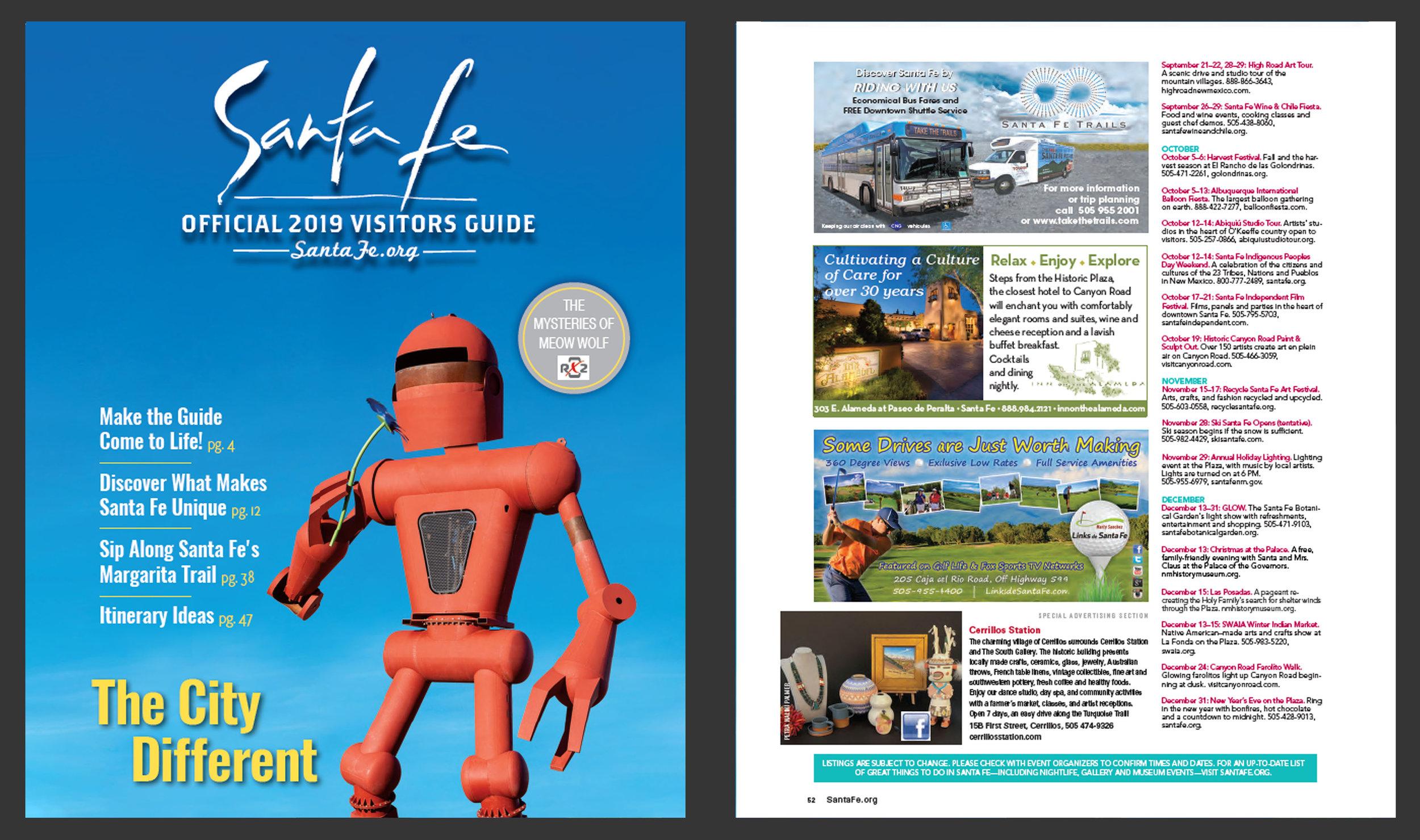 Print & Publishing Advertisements- 2019 Official Santa Fe, NM Travel Magazine - Marty Sanchez Links de Santa Fe Golf Course.jpg