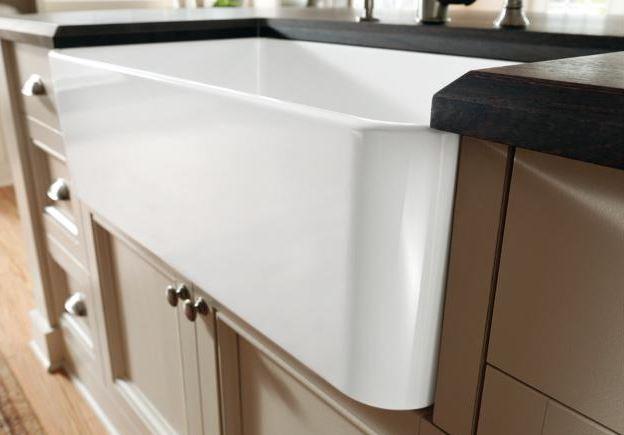 Ceramic apron sink