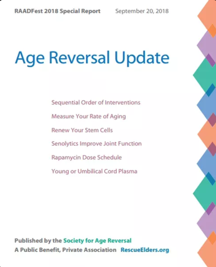 Society for Age reversal update guide People Unlimited RAADfest