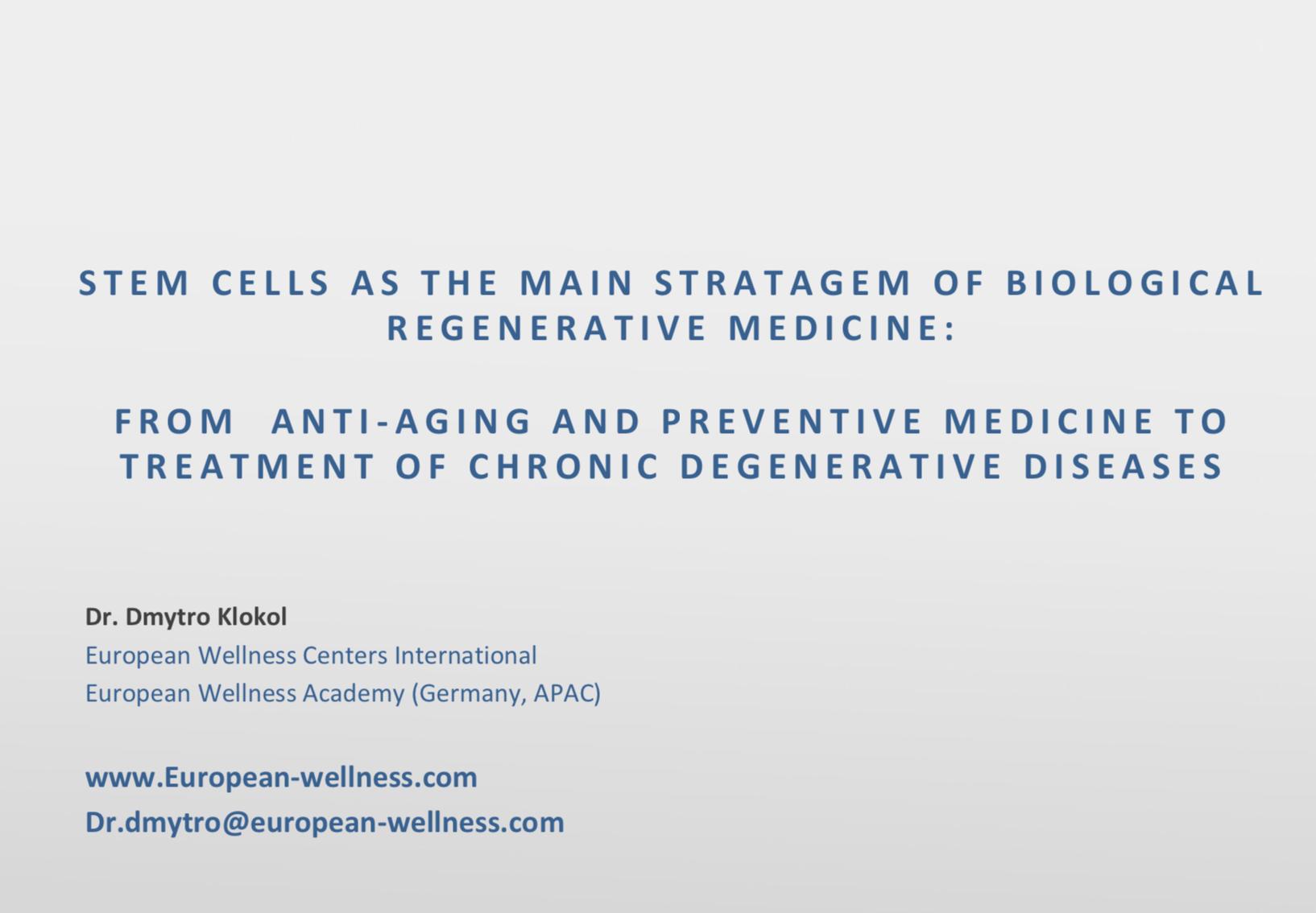 Stem cells regenerative medicine, People Unlimited