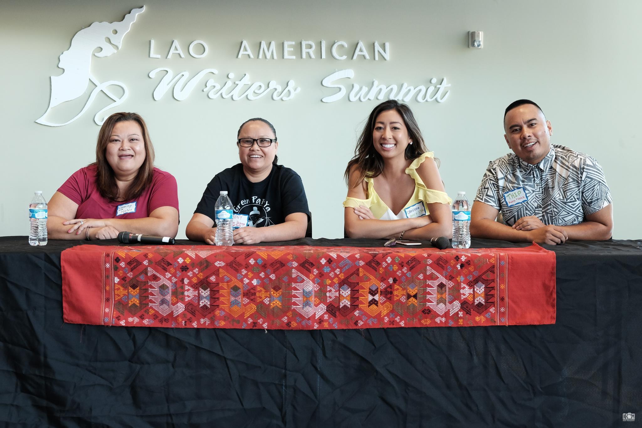 Lao Food Panel: Nana, Mony, Christina and Thip  Photo by  Dennis Wtpho  of  Khom Photography