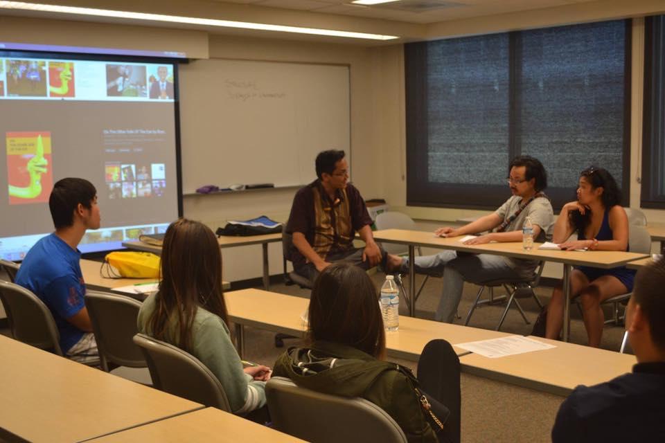Bryan Thao Worra teaching his Lao American Writing Workshop