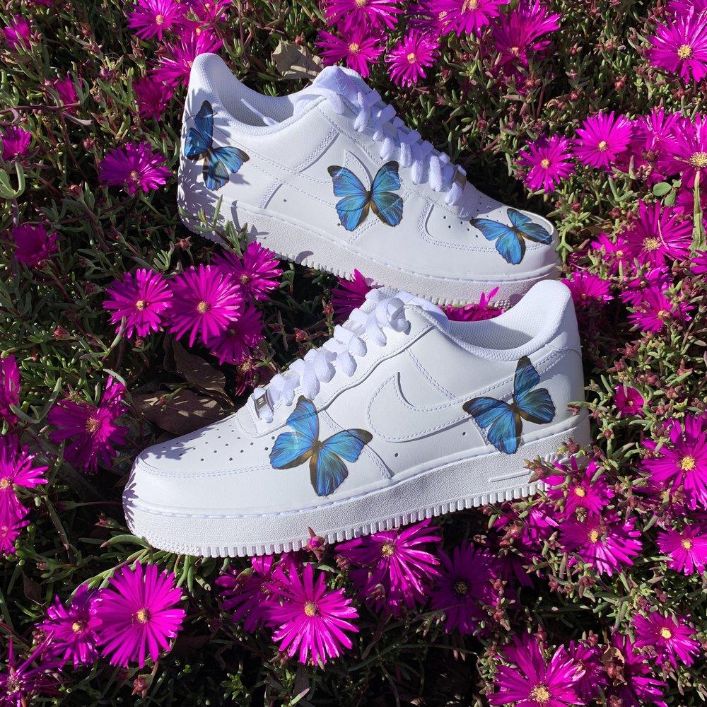 Blue Hd Clear Butterfly Air Force 1 Vintagewavez