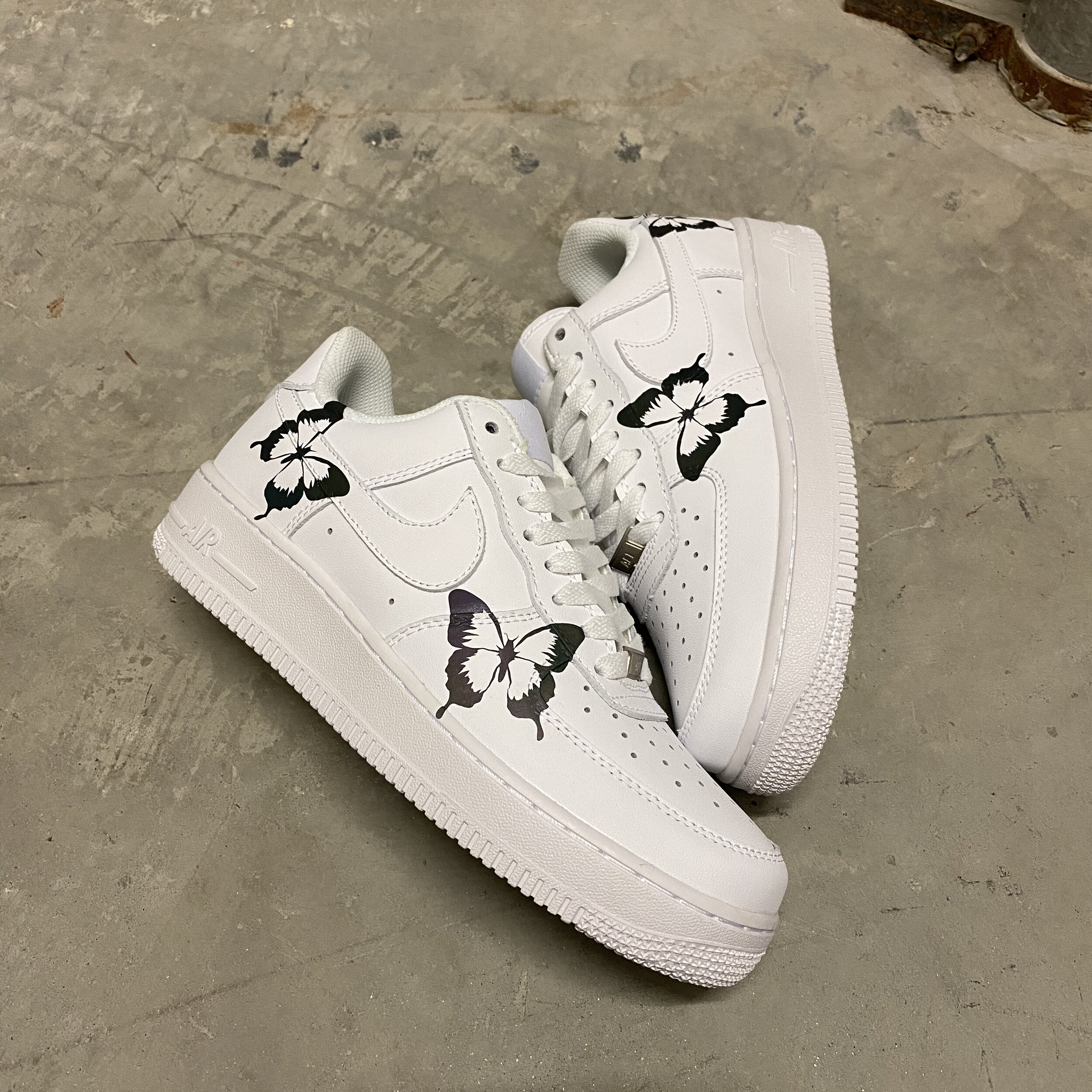 White rainbow Butterfly Air Force 1