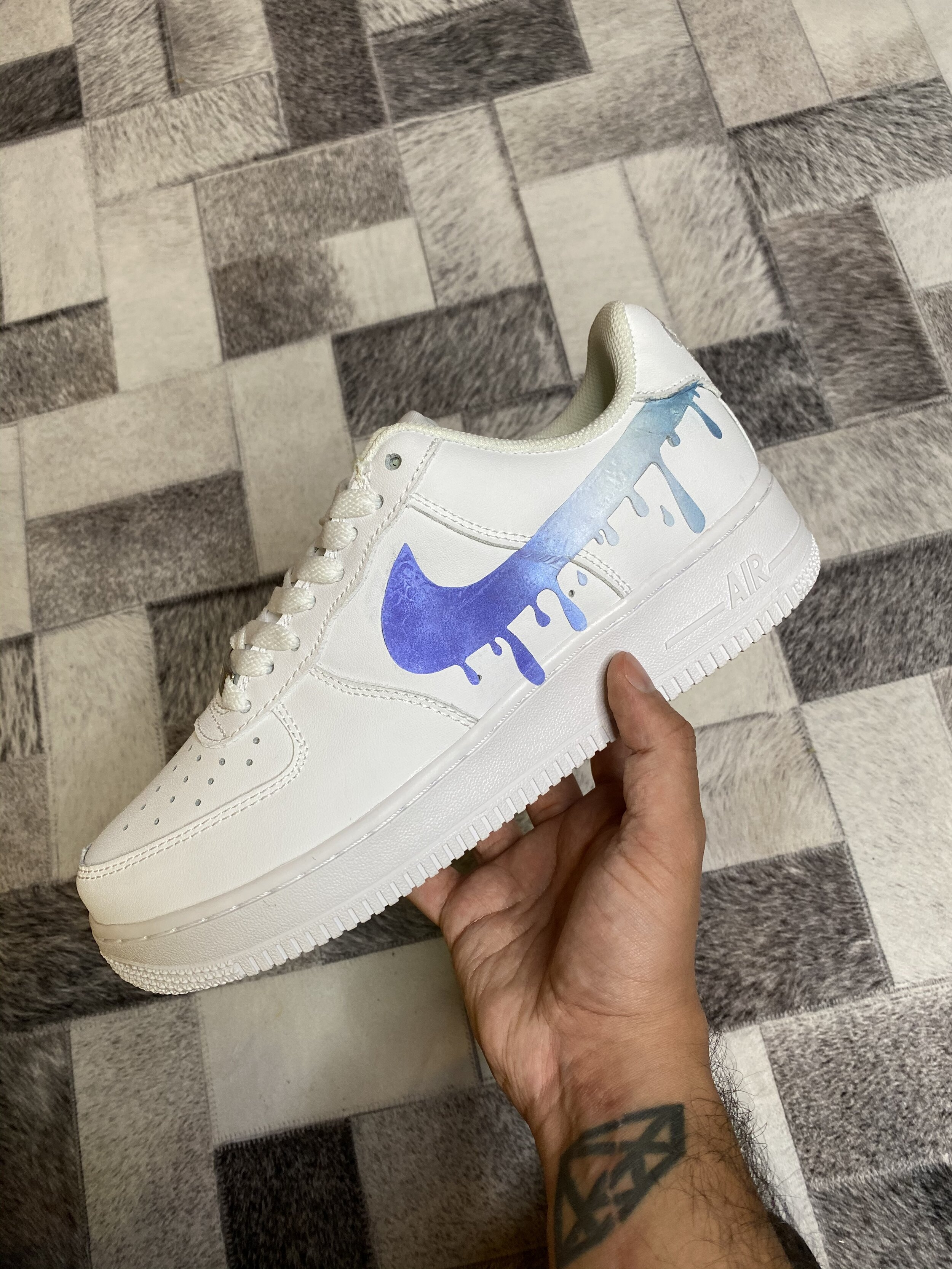 Drip Swoosh V2 Blue Ombre Airforce