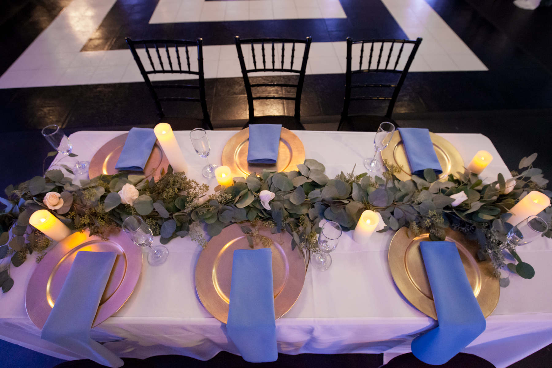 Gold Chargers - Decorative gold charger plates for reception tables$1.20/p