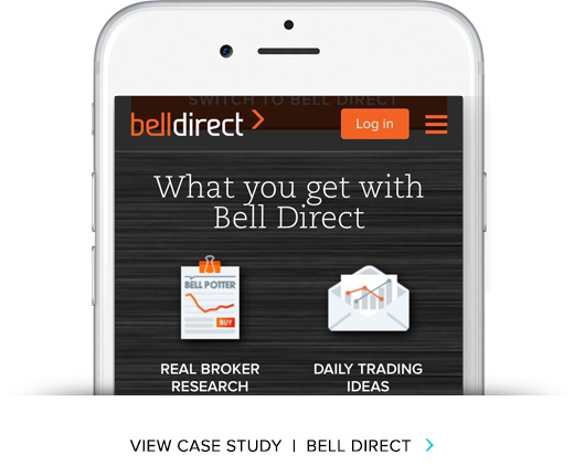 EndGame has worked extensively with Bell Direct, including creating the strategy and managing the development of the Bell Direct share trading website.   VIEW CASE STUDY
