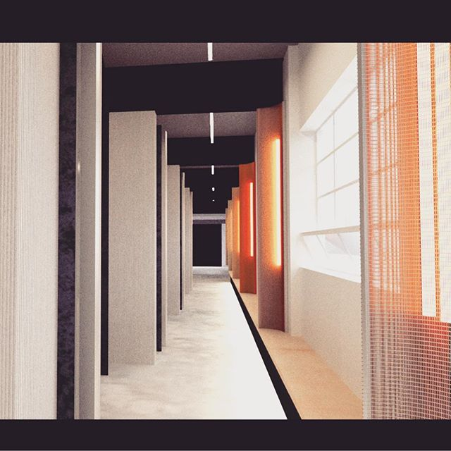 OSK Architects - design for co-working spaces in Prahran, Melbourne. Each studio space is open and connected to a cloister space, creating a shared corridor for socialising and collaborating.  #studiospaces #melbournearchitecture
