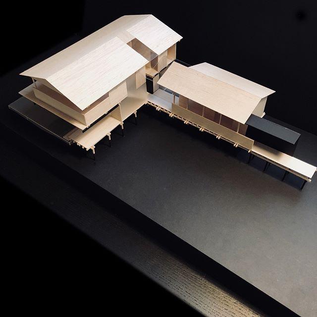 Mossy Point House - design development  #architecturemodel #wip