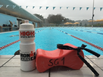 Old bike tubes make great bands & don't forget to write your name (or Bondi Fit code like SG1) on your pull buoy!