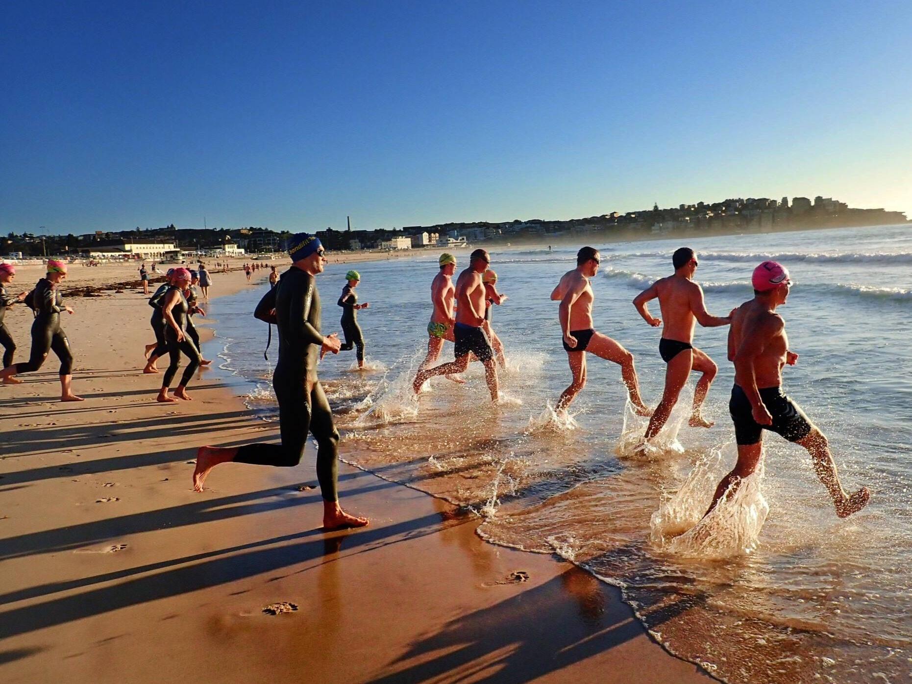 Sunrise+Surf+Run+into+water