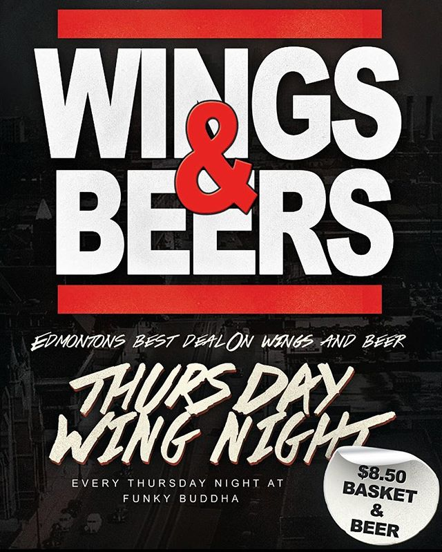 Wing Night! Come on down for 40cent wings until 11pm  #whyteavenue #yeg #wings #thursday #beer #uofa #nait #macewan #whyteave
