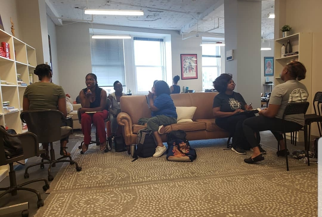 Workshop with the 2019 cohort of  Digital Undivided 's incubator program on  Commitment vs. Attachment: How to Hold Tightly to Your Vision