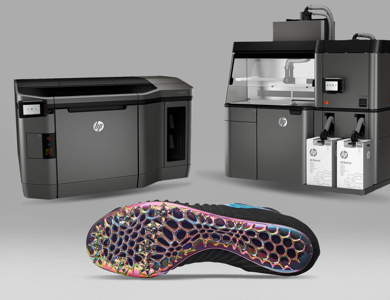 HP Jet Fusion 3D Printers and a Nike 3D Printed Shoe. Source:    circuitsandcableknit.com