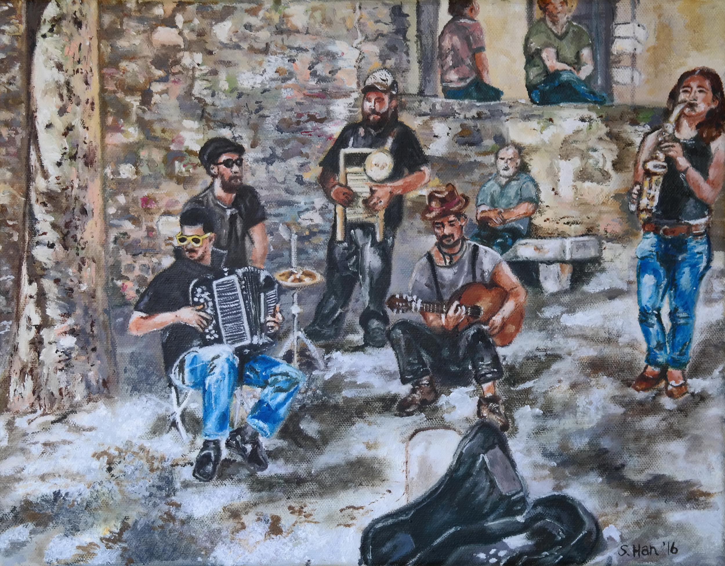 Local folk band in Lisbon