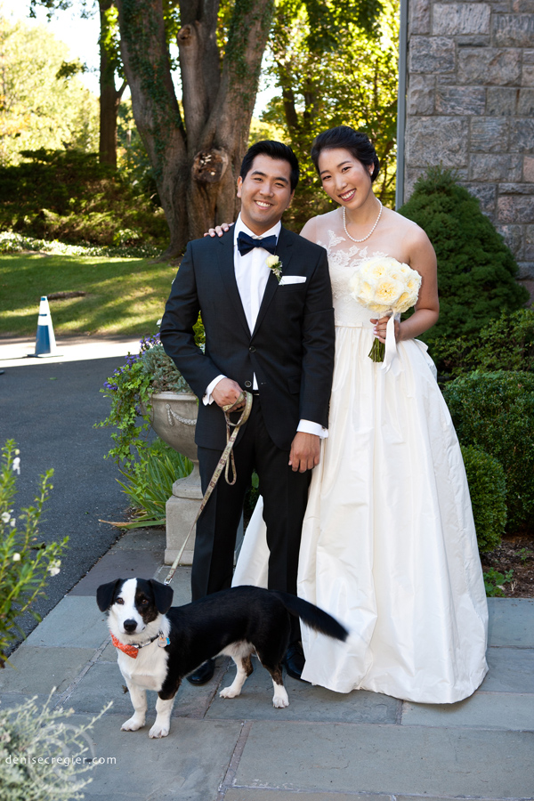 Justin, myself and our pup Chewie at our wedding.
