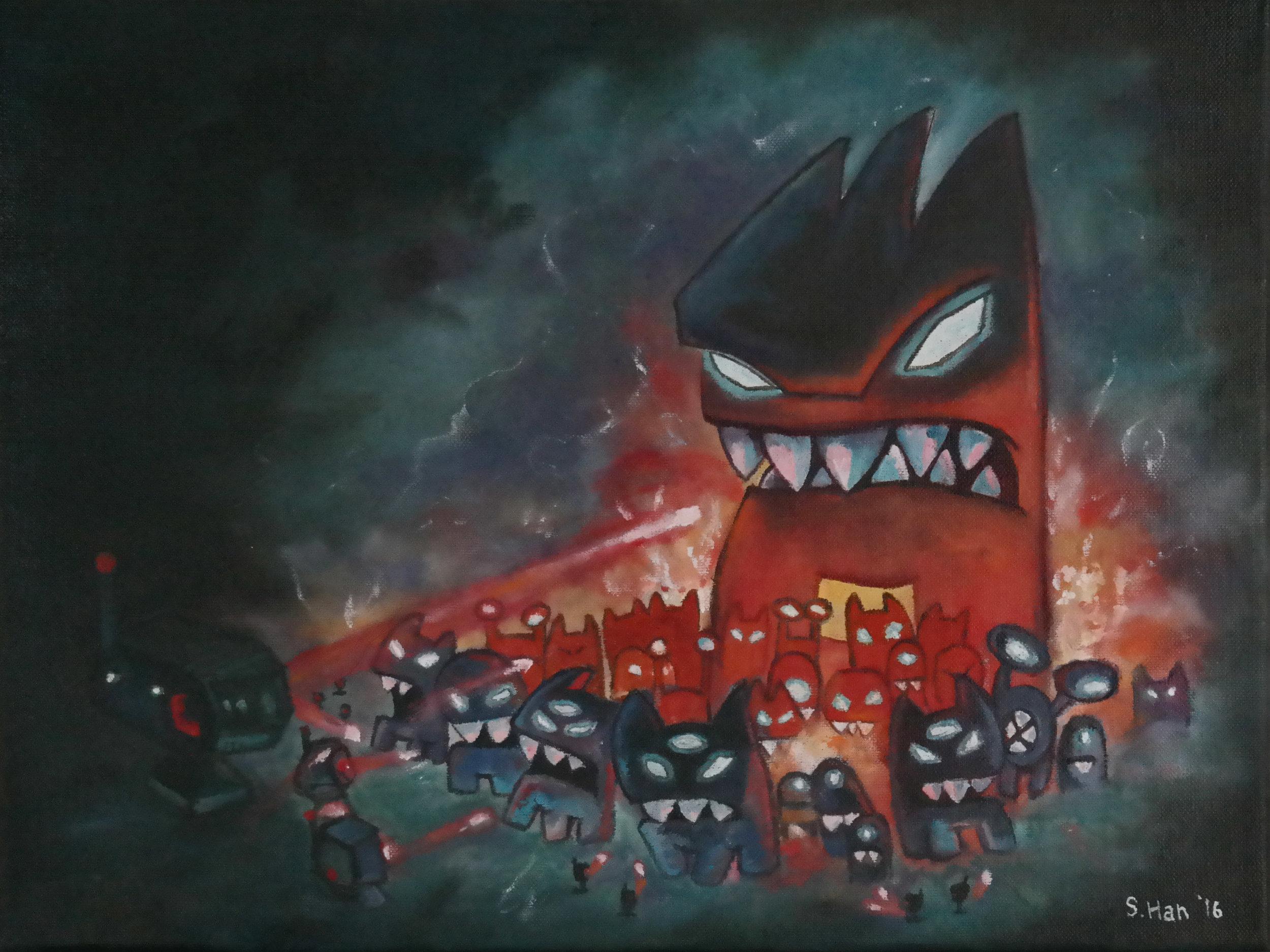 Revenge of the Titans cover art recreation