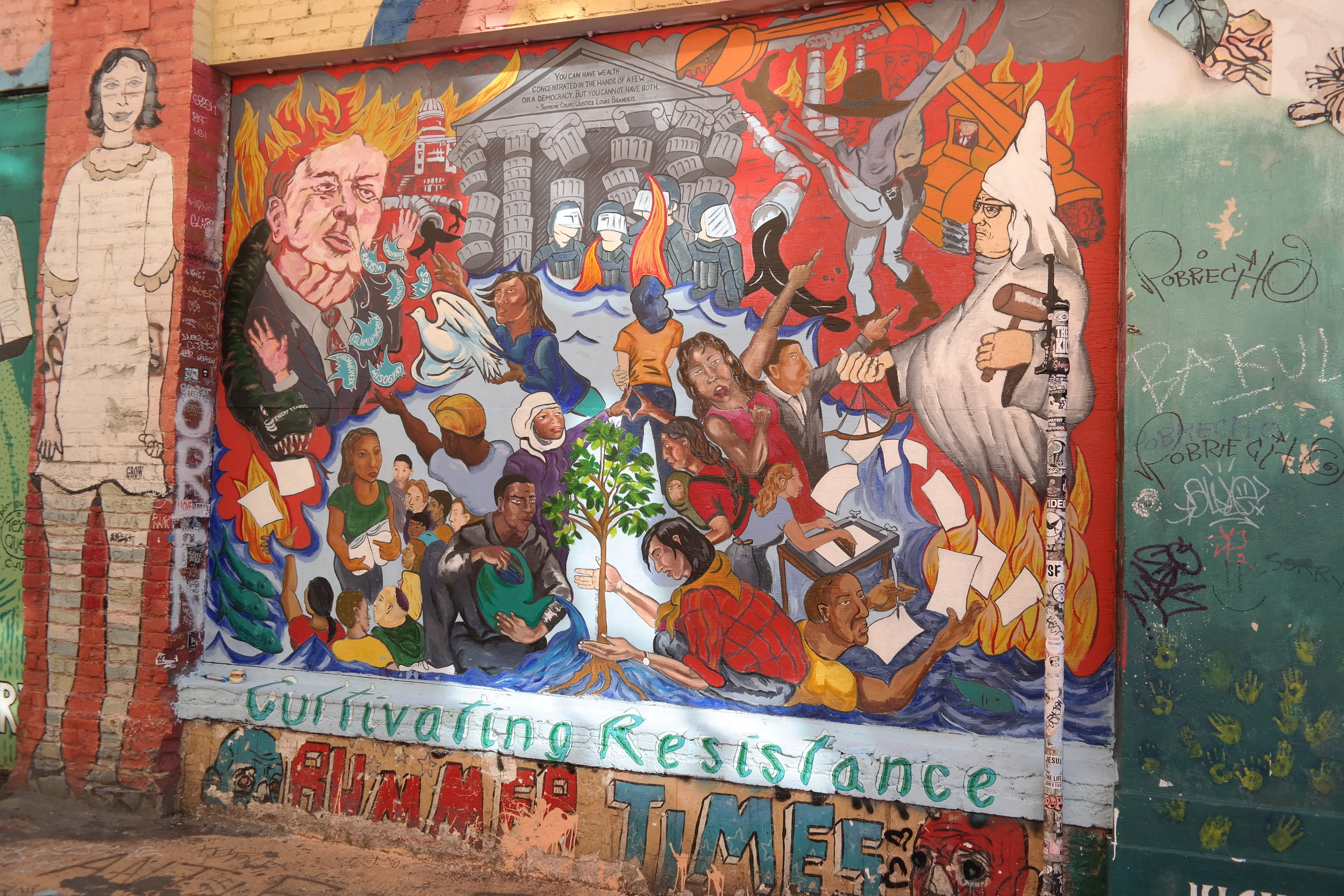 Another political mural in Clarion Alley.