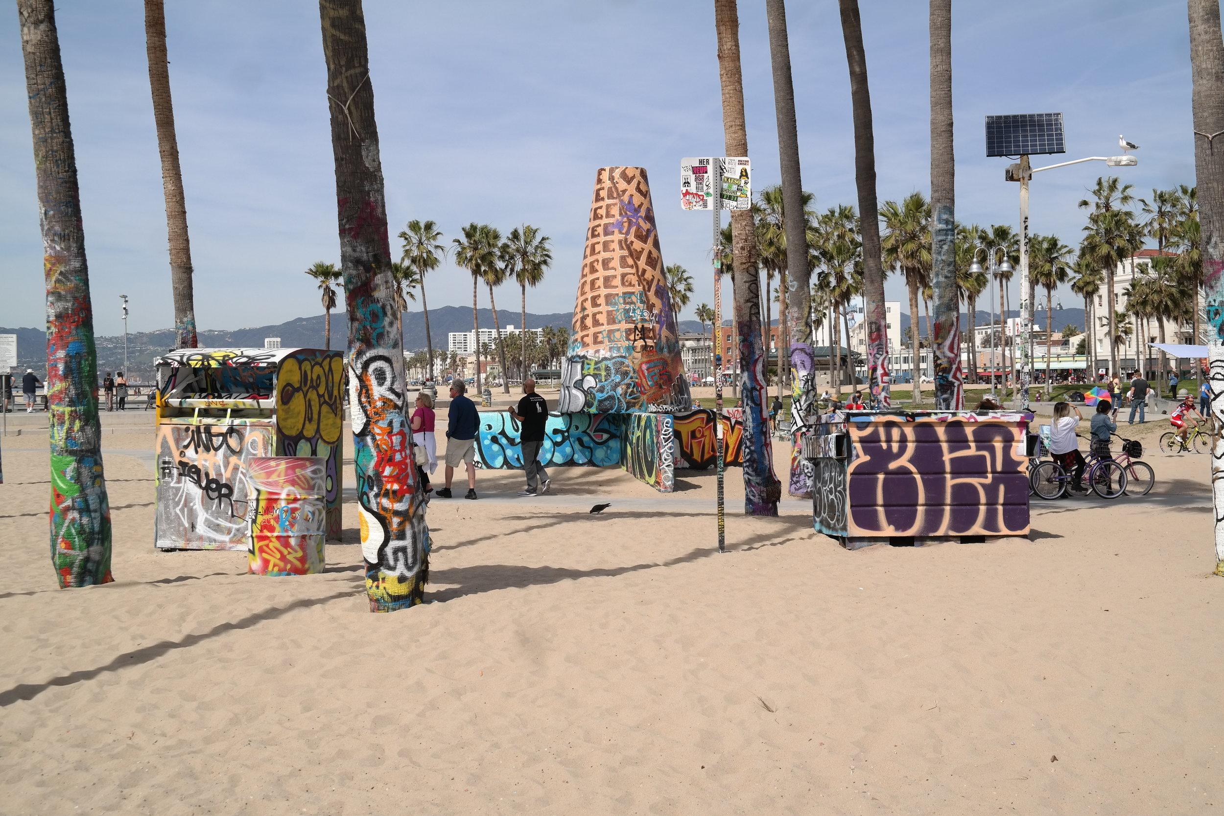 Public Art Walls in Venice Beach.