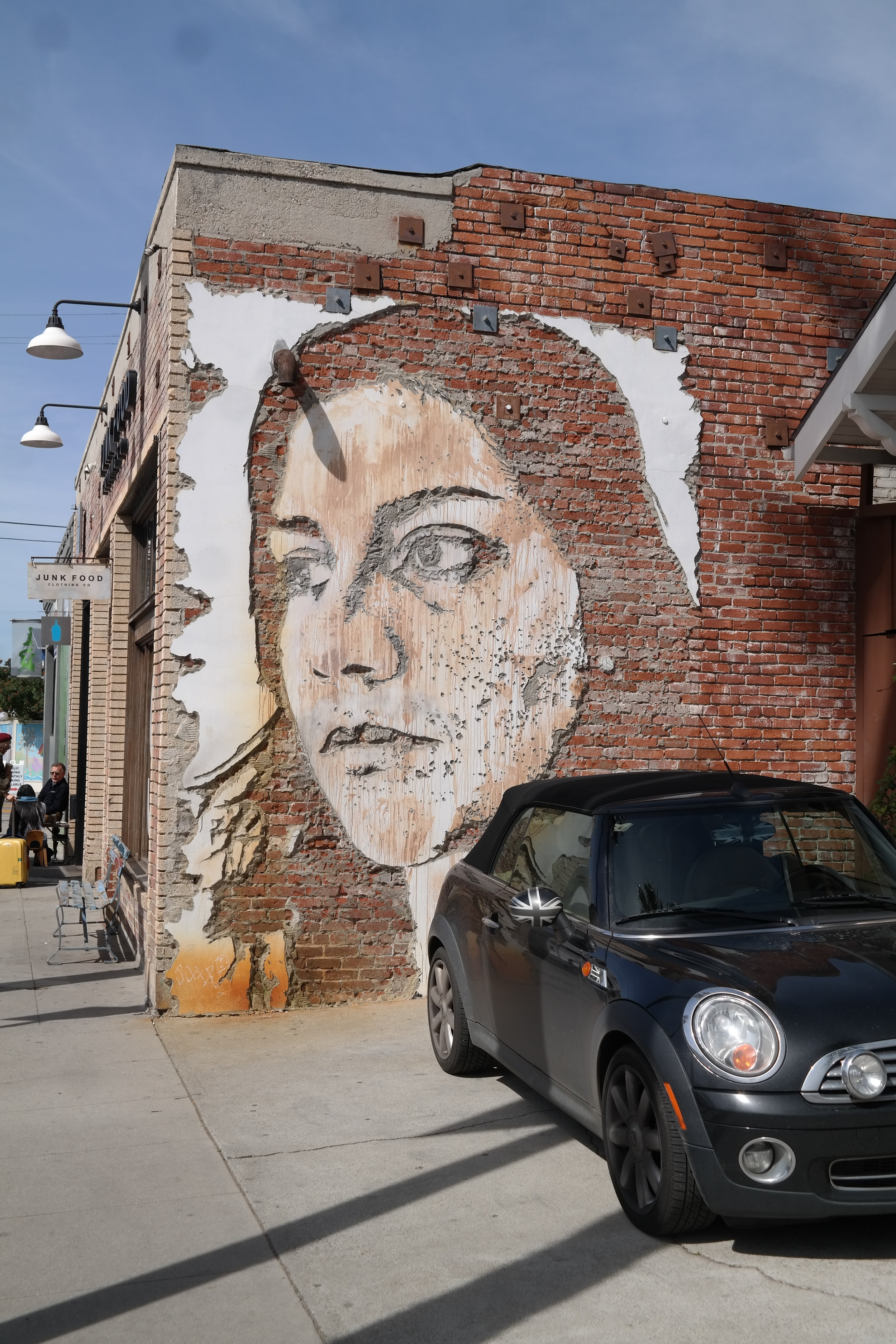 Beautiful portrait of a woman that was carved into the wall.