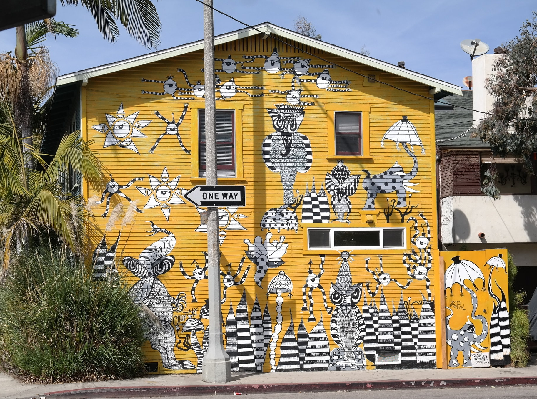 """Eye catching mural that reminds my husband of the show """"Ahh real monsters""""."""