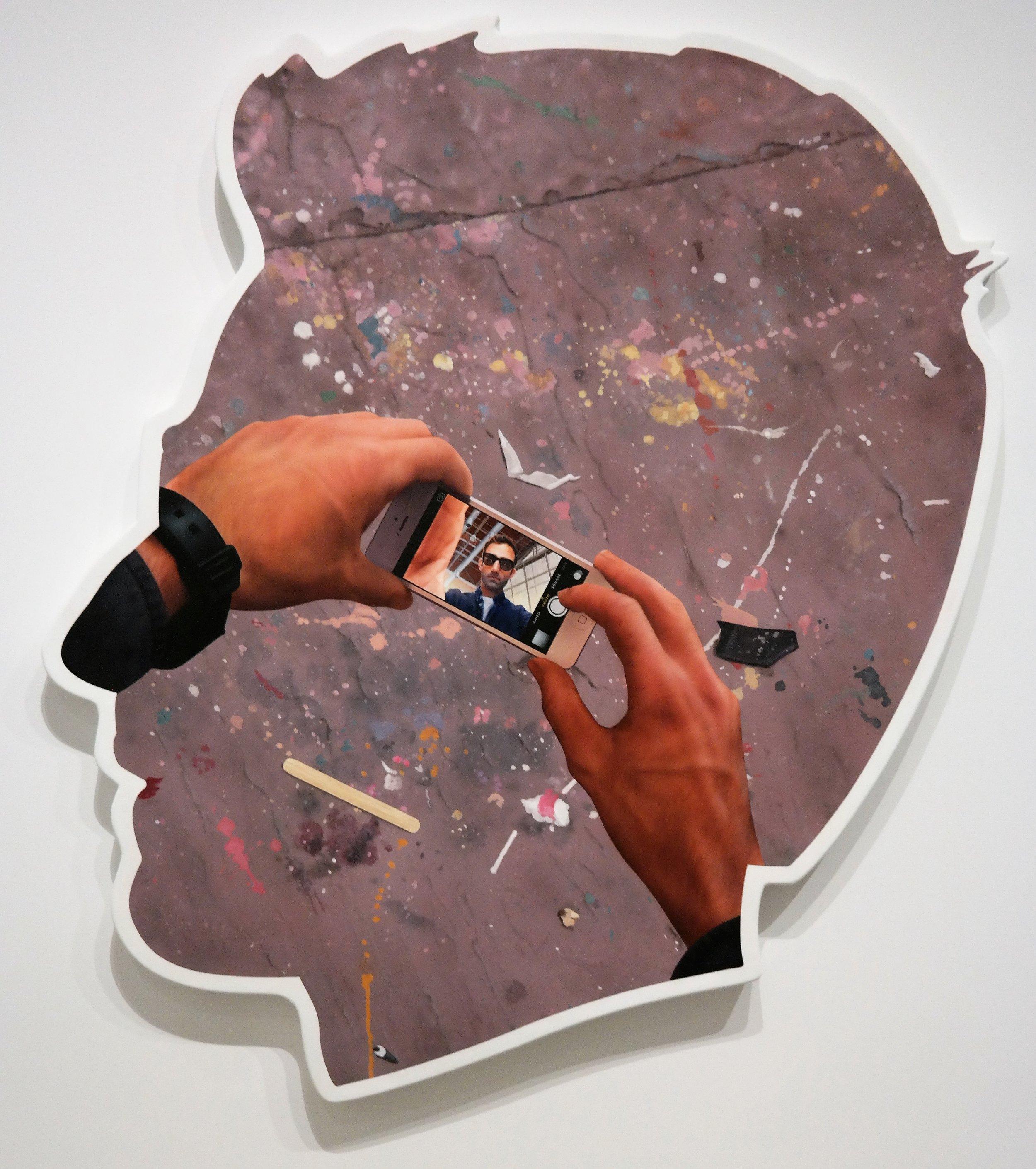 Self Portrait (Selfie and Studio Floor), Alex Israel, 2014