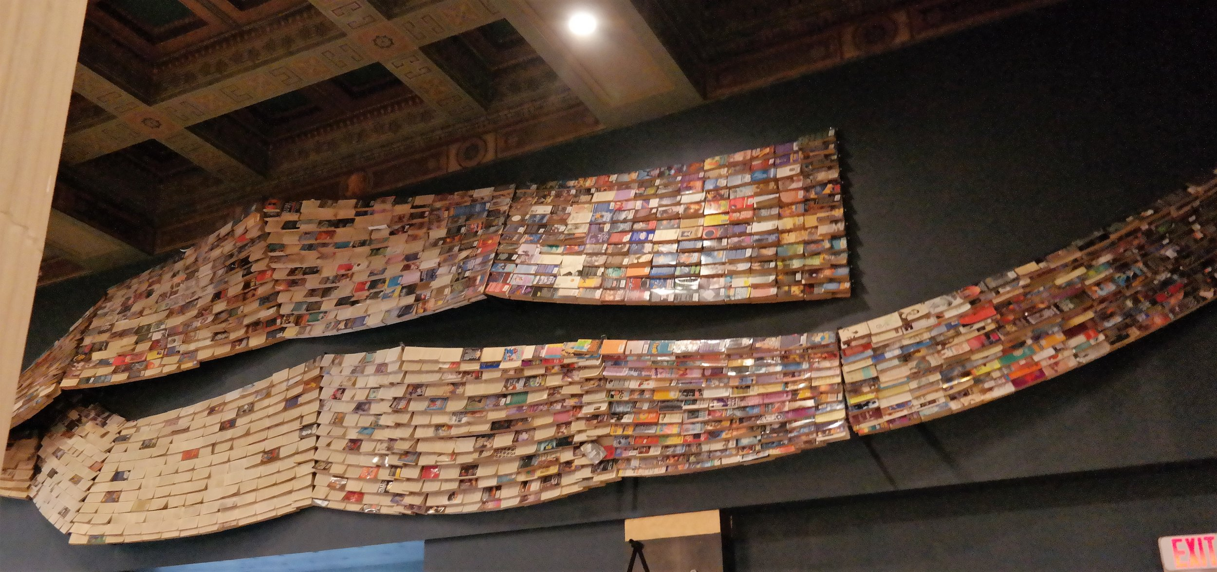 An art piece made out of books in the Last Bookstore.