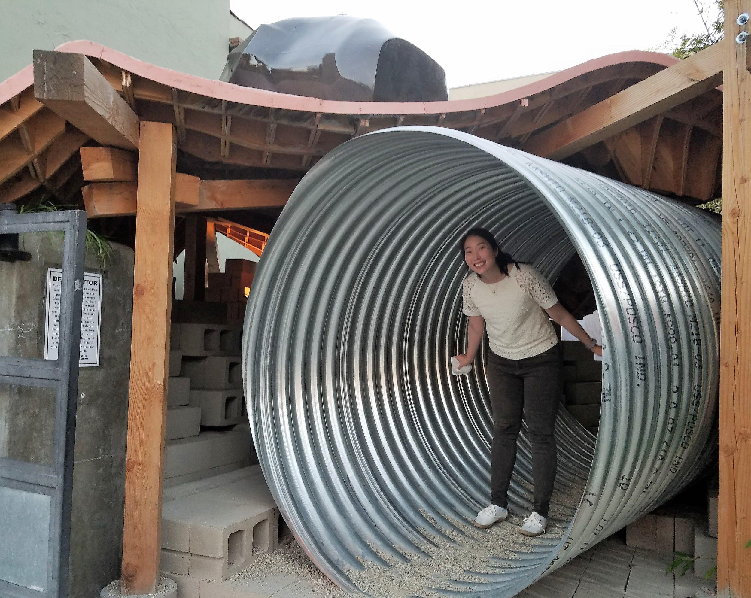 Me inside the Tube installation