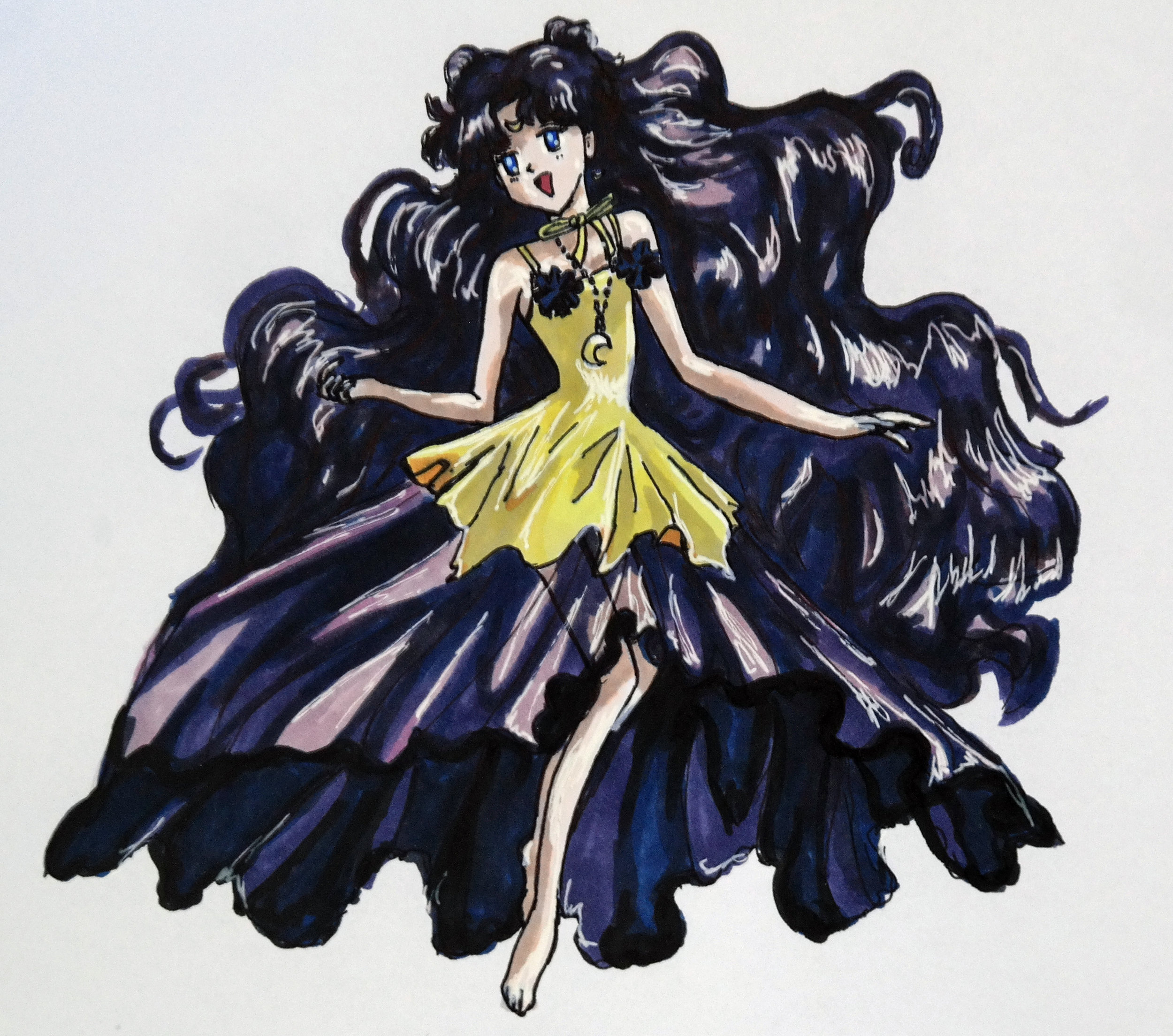 My latest rendition of a Sailor Moon character.