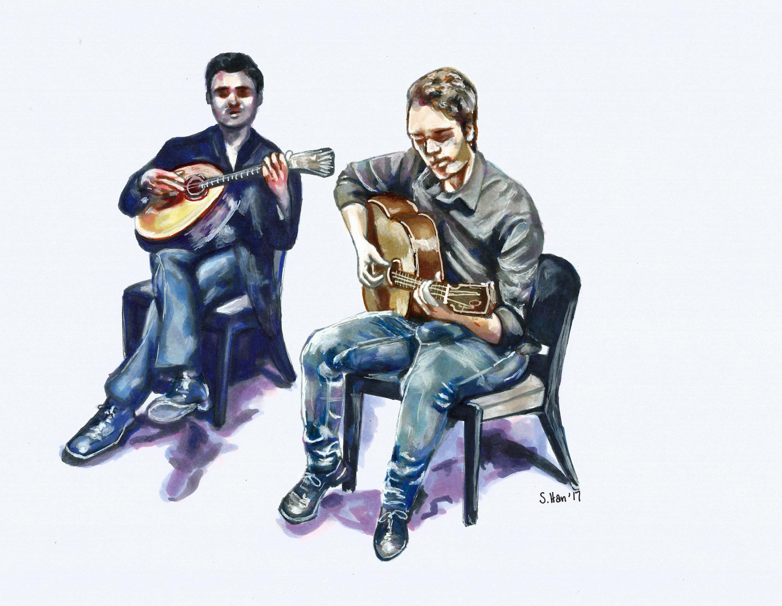 Fado guitar players