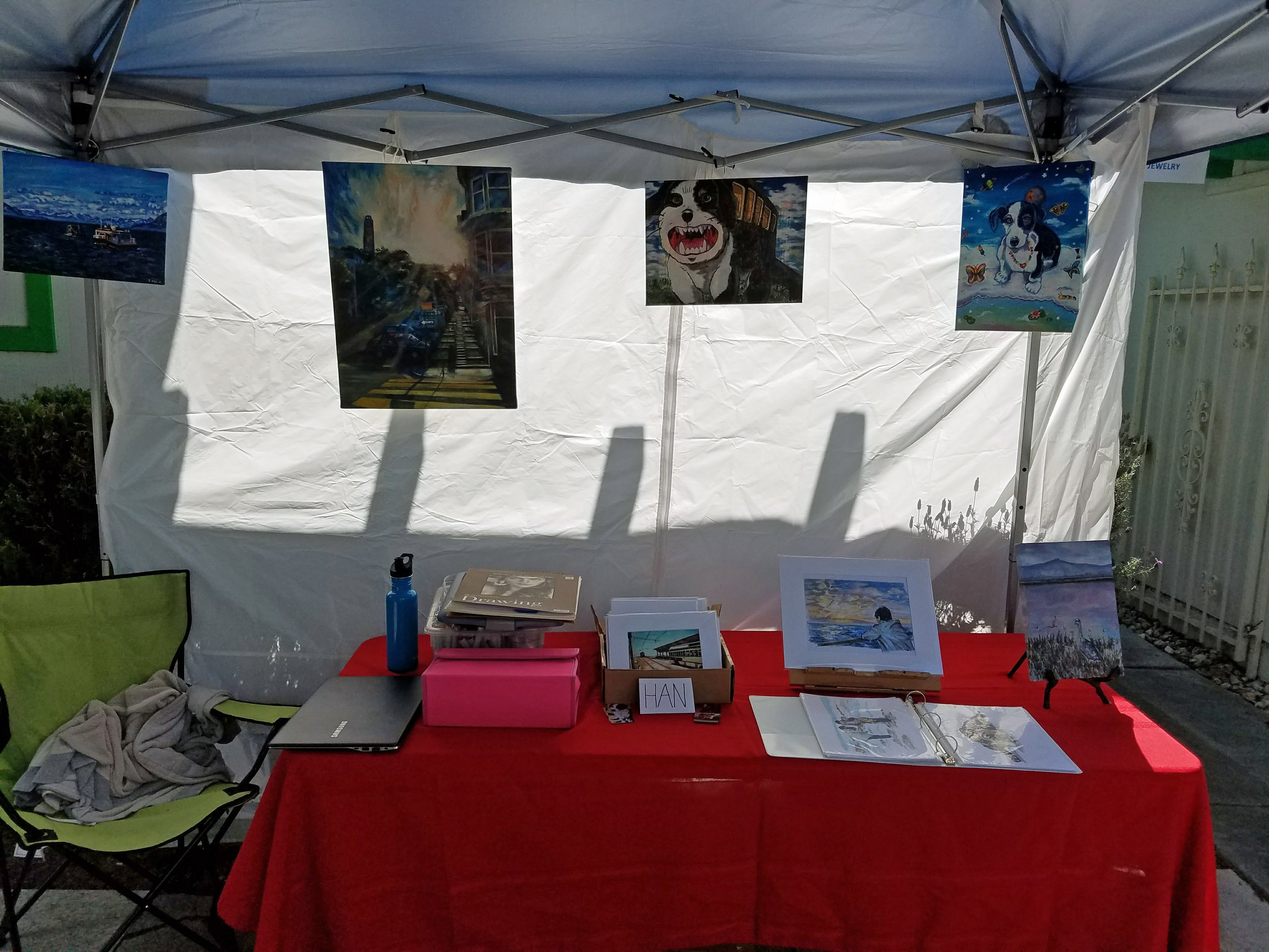 My booth at the open studio.