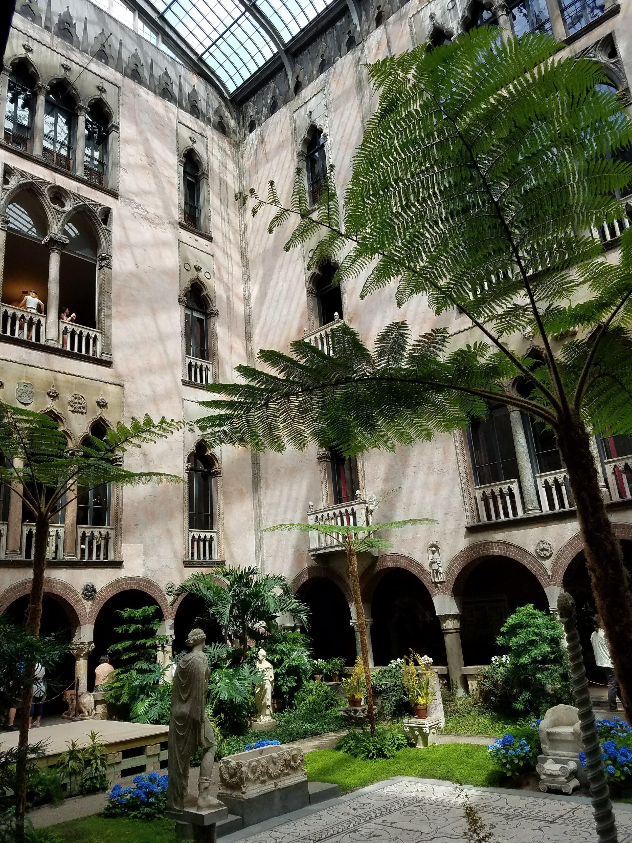 Courtyard in the Isabella Stewart Gardner Museum in Boston, MA.