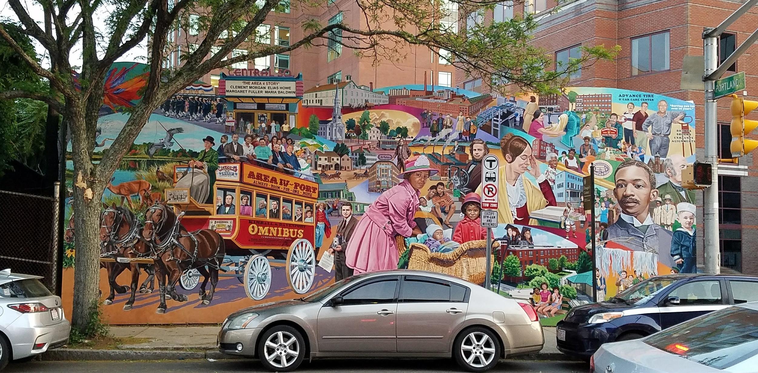 Street art in Cambridge, MA.