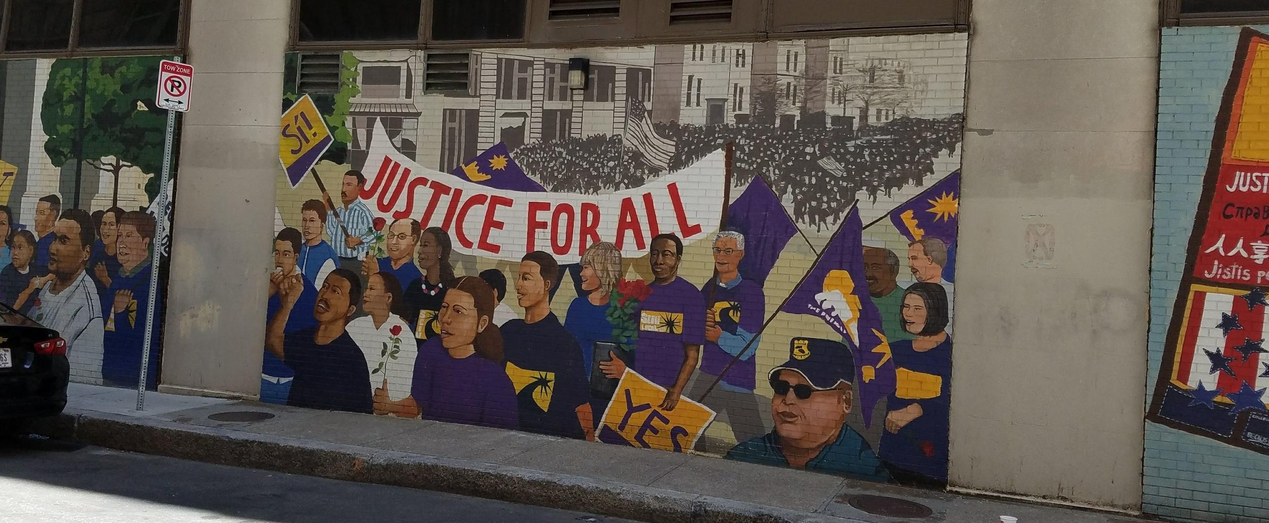 Powerful street art in Boston, MA.