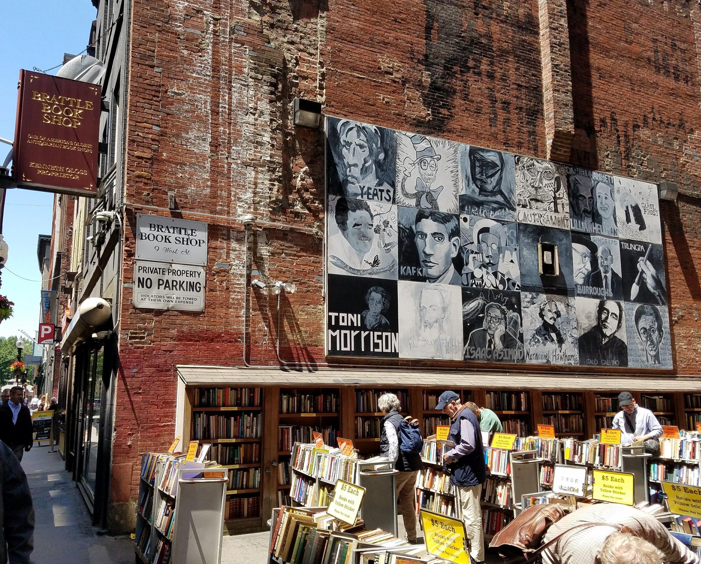 Mural outside Brattle Bookshop in Boston, MA.