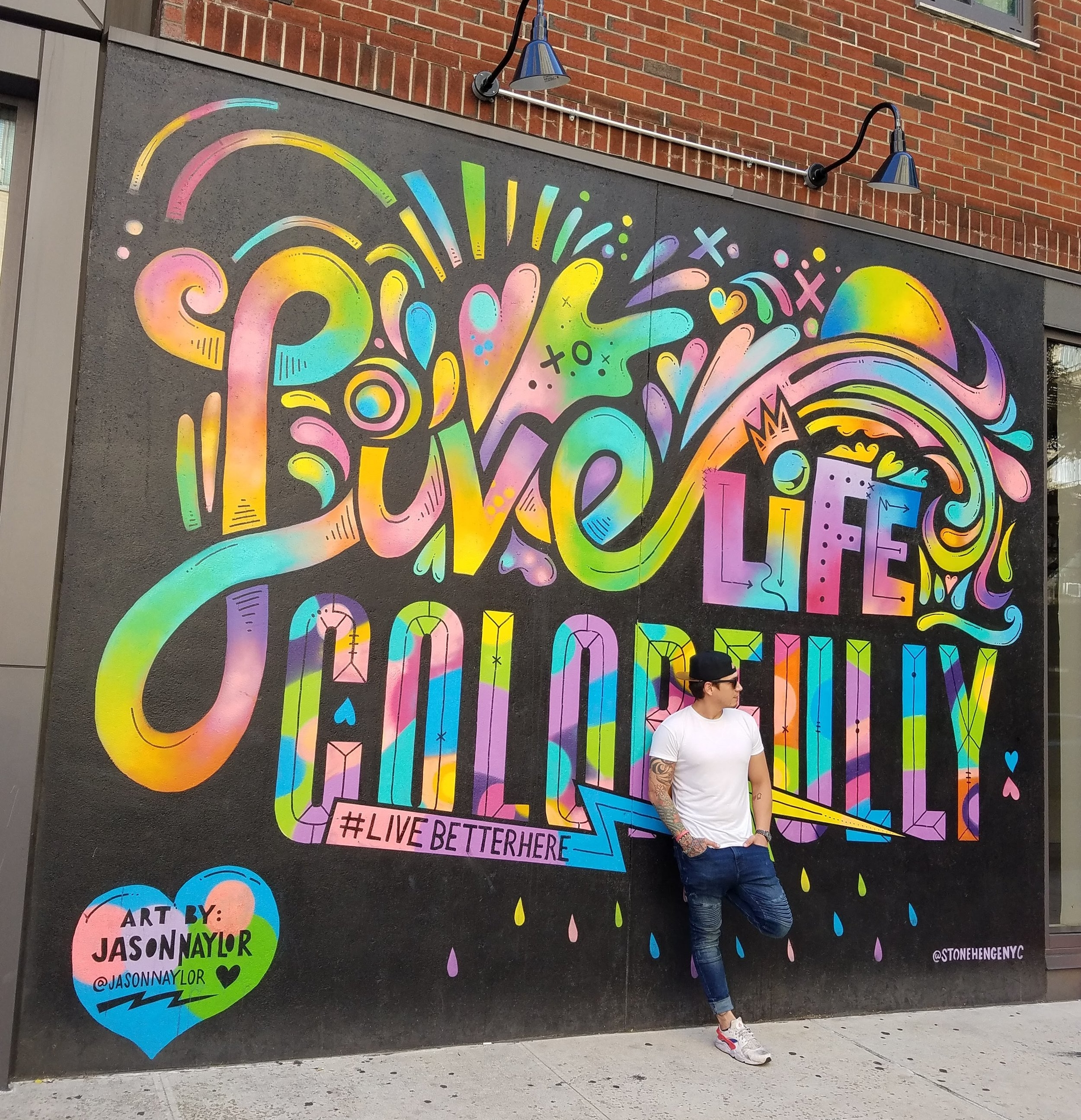 Mural in Greenwich Village, New York.