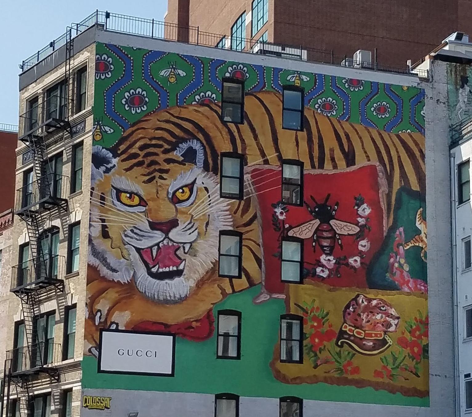 Mural in Soho, New York.