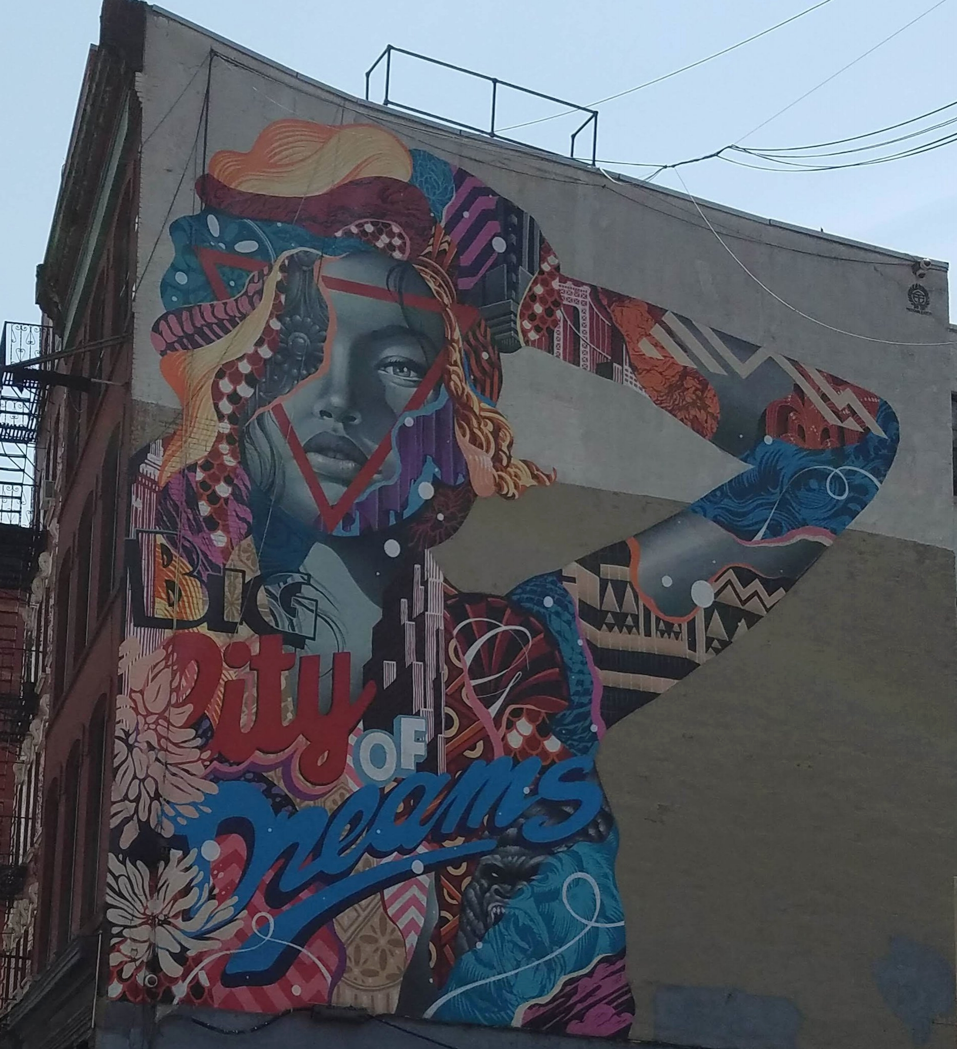 Mural in Little Italy, New York.