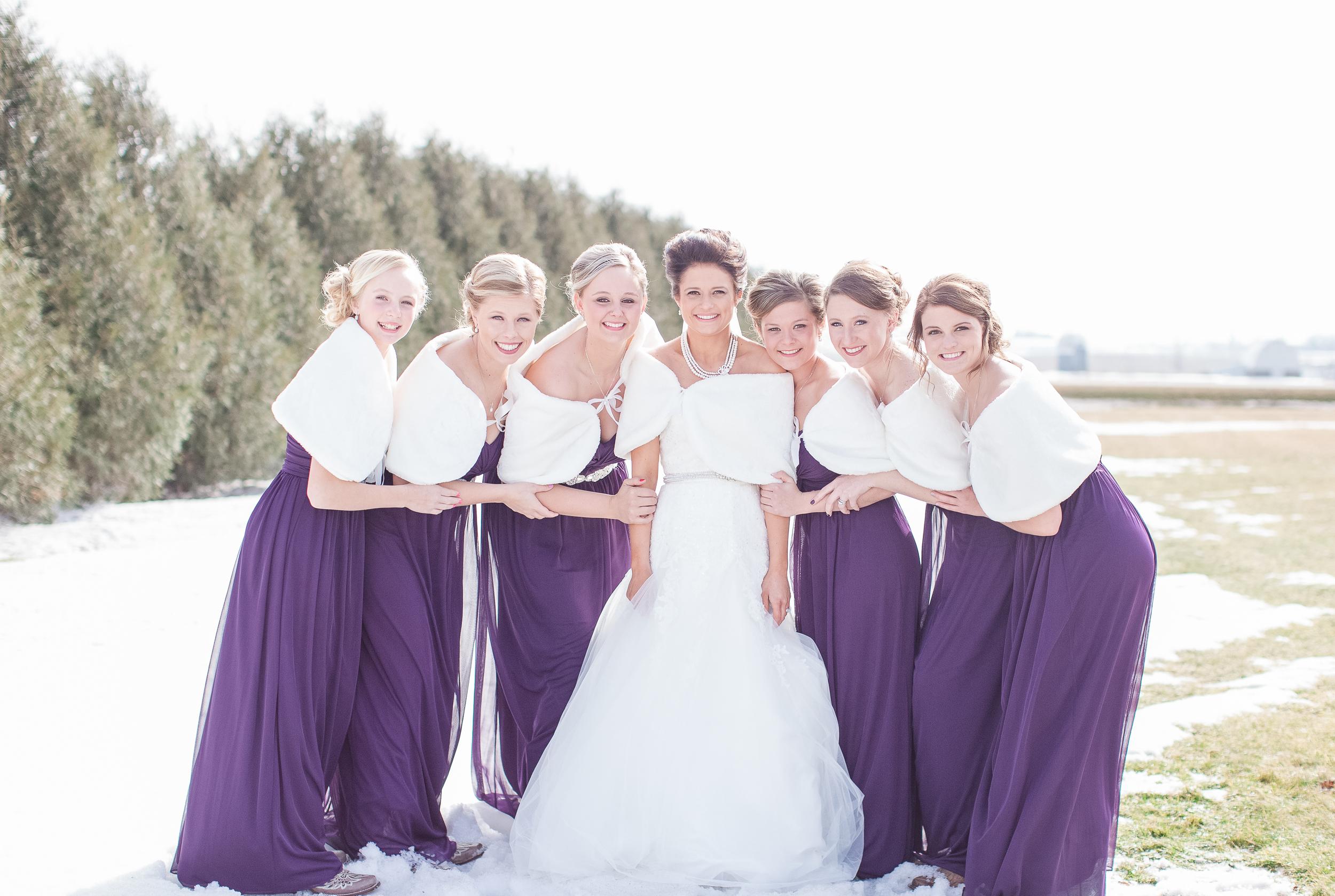 #bridesmaids #purpledress #wedding #winterwedding