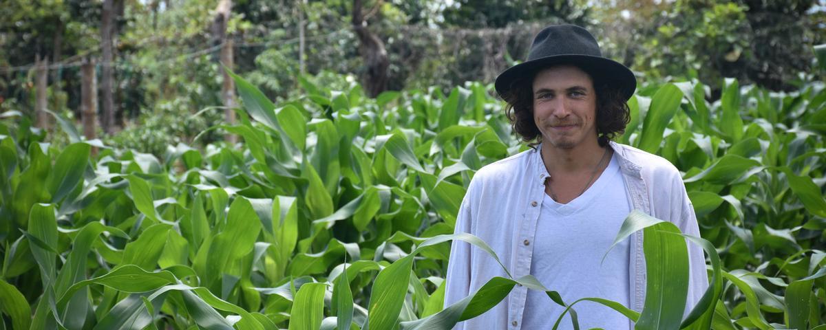 Nico Kayser on the Otoy farm. All photos by the author CLARISSA WEI