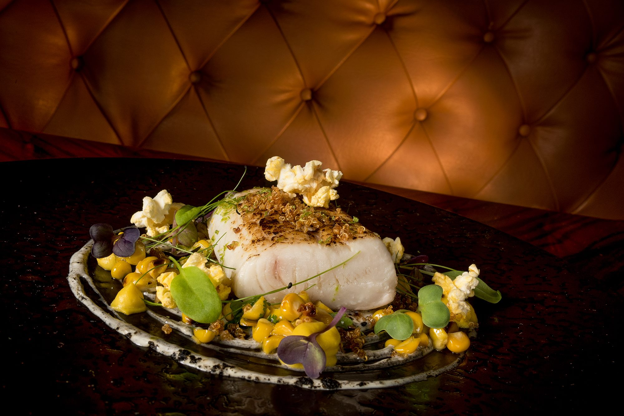 181206 Dish-Kingfish Grilled Corn, Sour Cream, Qinnoa&Lime, Cleanseas Hiramasa Yellow Tail Kingfish Eyre Peninsula, South Australia.jpg