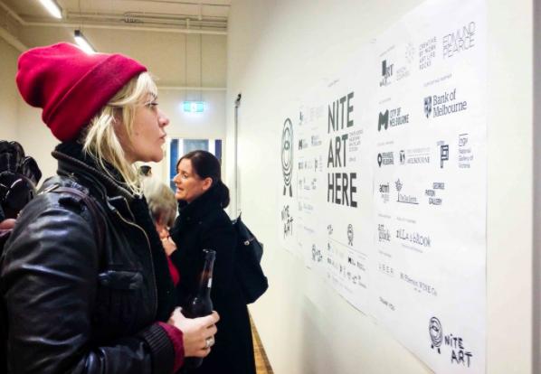VIP event at Karen Woodbury gallery, image from Nite Art 14