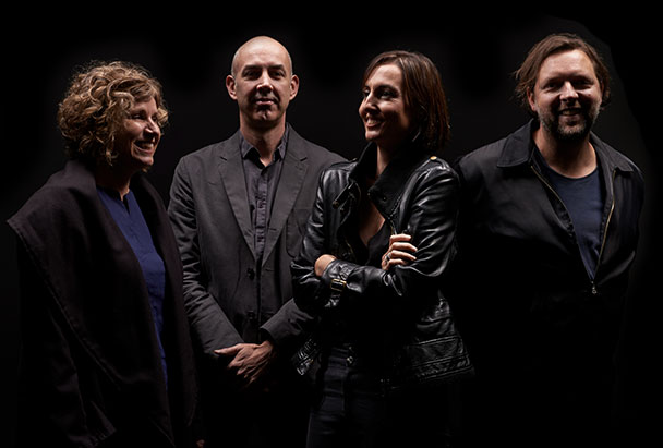 Co-creators & Art lovers - Deb Stahle, Jason McQuoid, Andrea Nixon, Andrew Ashton (image by Earl Carter)