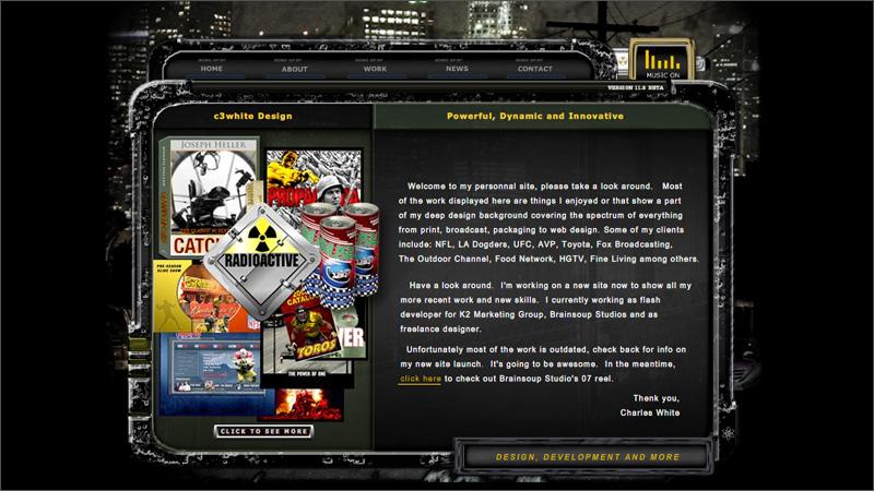 '06 Portfolio Flash Minisite
