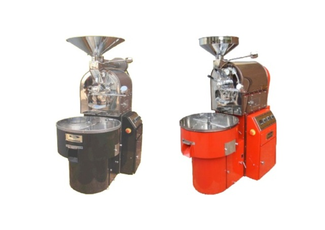 Yucel Coffee Roasting Machines     Standards  Sample spoon and glass window  Separate chaff collector  Simultaneous roasting and cooling  Easy using  High capacity suction fan for cooling  User manual  Color options for body  Digital bean thermometer  Stainless steel drum  Options  Afterburner  Electric motors working 100 – 110 colt 60 Hz are also available  Digital bean product thermometer  Loader (Pneumatic – Mechanical)
