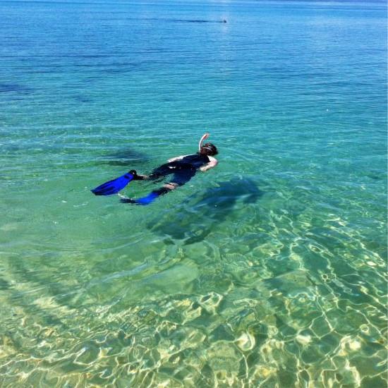 Snorkling at 293 on Komba