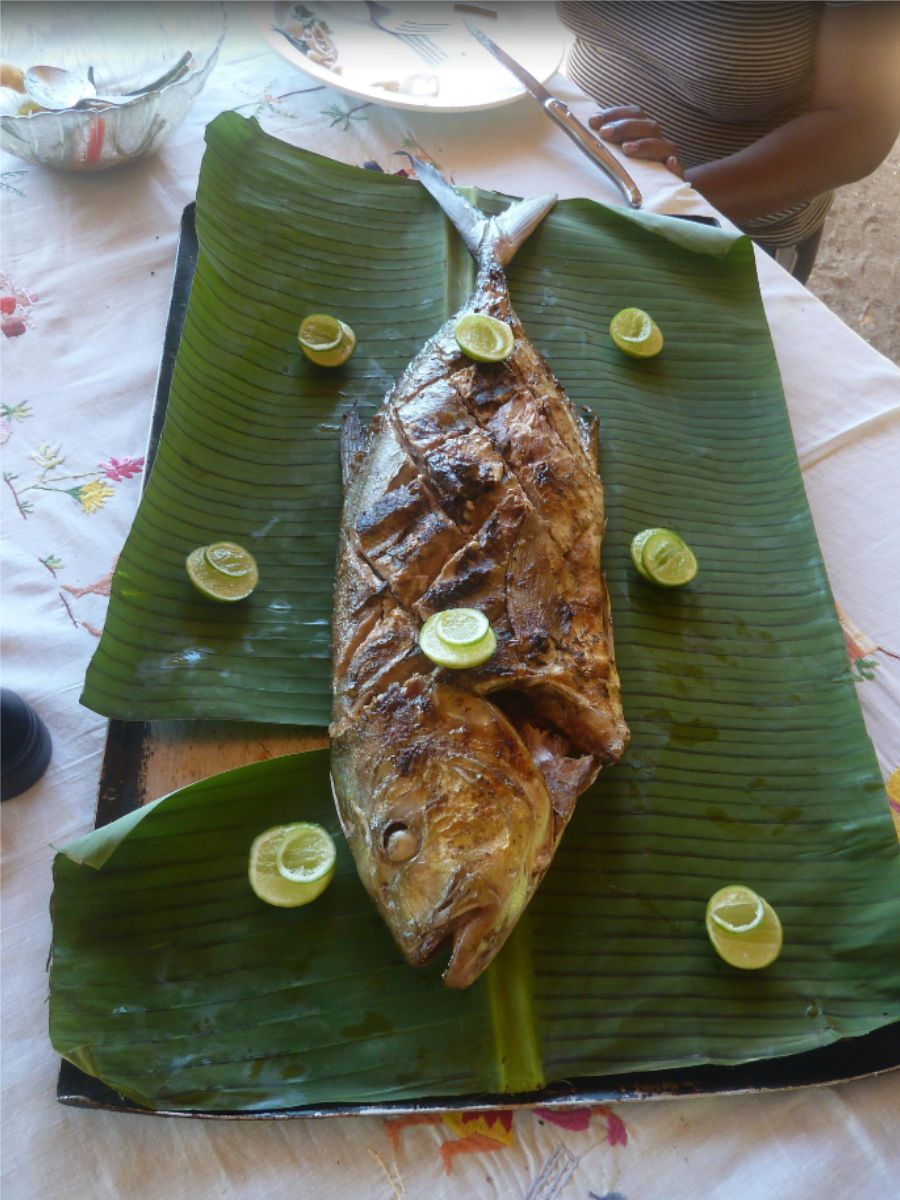 Stunning Seafood dishes at Eden Lodge, Nosy Be, Madagascar