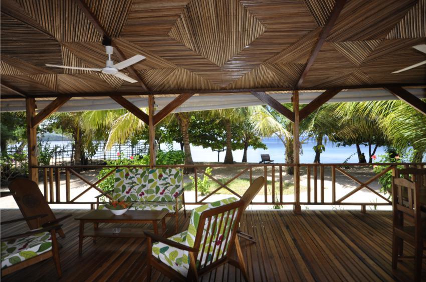 Under Cover deck at Sakatia Lodge, Nosy Sakatia, Madagascar