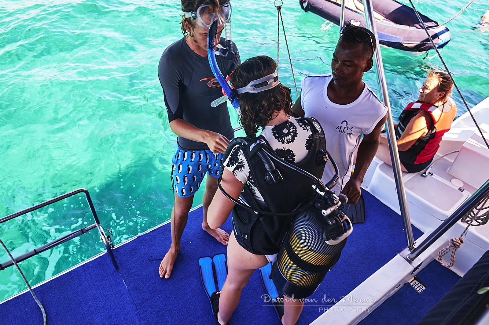Scuba diving trips on the Maki Cat